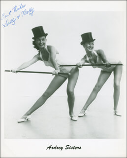 THE ARDREY SISTERS - AUTOGRAPHED SIGNED PHOTOGRAPH CO-SIGNED BY: SALLY ARDREY, MOLLY ARDREY