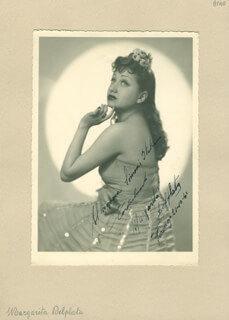 MARGHERITA DEL PLATA - AUTOGRAPHED INSCRIBED PHOTOGRAPH 10/21/1941
