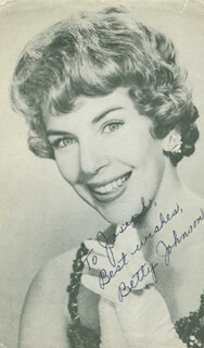BETTY JOHNSON - AUTOGRAPHED INSCRIBED PHOTOGRAPH