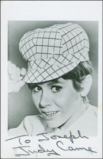 JUDY CARNE - INSCRIBED PICTURE POSTCARD SIGNED