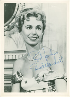SARAH MARSHALL - AUTOGRAPHED SIGNED PHOTOGRAPH