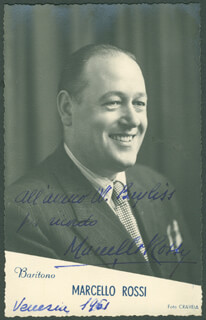 MARCELLO ROSSI - AUTOGRAPHED INSCRIBED PHOTOGRAPH 1951