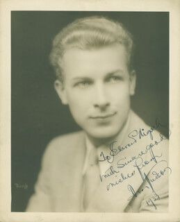 DON HUDSON - AUTOGRAPHED INSCRIBED PHOTOGRAPH 1933