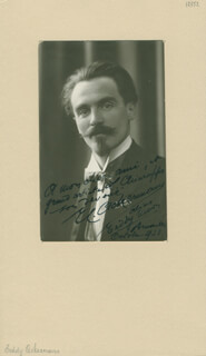 Autographs: E. C. EDDY ACKERMANN - INSCRIBED PHOTOGRAPH SIGNED 10/1923