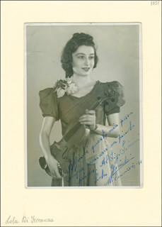 FIORENZA COSSOTTO - AUTOGRAPH NOTE ON PHOTOGRAPH SIGNED 06/23/1941