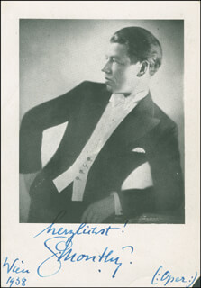 GEORG MONTHY - AUTOGRAPHED SIGNED PHOTOGRAPH 1938