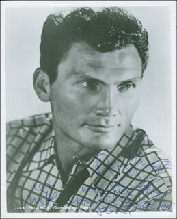 JACK PALANCE - AUTOGRAPHED INSCRIBED PHOTOGRAPH 08/77