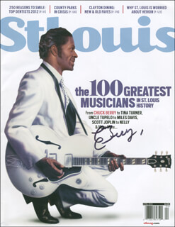 CHUCK BERRY - MAGAZINE SIGNED