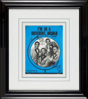 FOUR TOPS - SHEET MUSIC SIGNED CO-SIGNED BY: FOUR TOPS (LEVI STUBBS), FOUR TOPS (ABDUL DUKE FAKIR), FOUR TOPS (RENALDO OBIE BENSON), FOUR TOPS (LAWRENCE PAYTON)
