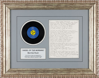 MERRILEE RUSH - AUTOGRAPH LYRICS SIGNED