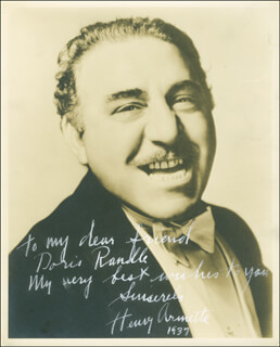HENRY ARMETTA - AUTOGRAPHED INSCRIBED PHOTOGRAPH 1937
