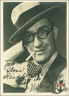 WALTER CATLETT - AUTOGRAPHED INSCRIBED PHOTOGRAPH