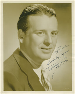 WALLACE WALLY FORD - AUTOGRAPHED INSCRIBED PHOTOGRAPH 1941