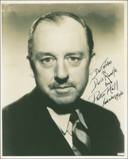 PORTER HALL - AUTOGRAPHED INSCRIBED PHOTOGRAPH 11/1940
