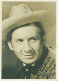 FUZZY KNIGHT - AUTOGRAPHED INSCRIBED PHOTOGRAPH 1940