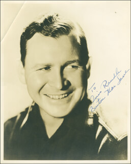 BARTON MAC LANE - AUTOGRAPHED INSCRIBED PHOTOGRAPH