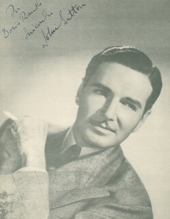 JOHN SUTTON - AUTOGRAPHED INSCRIBED PHOTOGRAPH