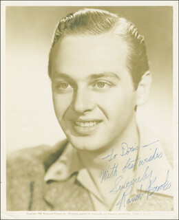 RAND BROOKS - AUTOGRAPHED INSCRIBED PHOTOGRAPH