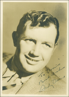 ANDY DEVINE - AUTOGRAPHED INSCRIBED PHOTOGRAPH