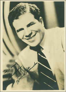 LIONEL STANDER - AUTOGRAPHED INSCRIBED PHOTOGRAPH