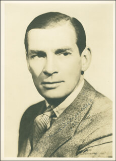 JAMES STEPHENSON - AUTOGRAPHED SIGNED PHOTOGRAPH 1938
