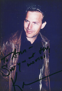 KEVIN COSTNER - AUTOGRAPHED INSCRIBED PHOTOGRAPH