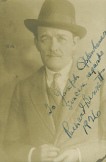 RICHARD BENNETT - AUTOGRAPHED INSCRIBED PHOTOGRAPH 1926