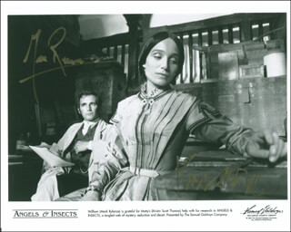 ANGELS & INSECTS MOVIE CAST - AUTOGRAPHED SIGNED PHOTOGRAPH CO-SIGNED BY: MARK RYLANCE, KRISTIN SCOTT THOMAS