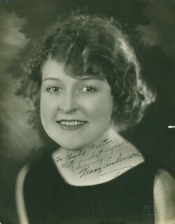 Autographs: MARY ANDERSON - INSCRIBED PHOTOGRAPH SIGNED
