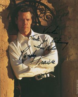 RANDY TRAVIS - AUTOGRAPHED INSCRIBED PHOTOGRAPH