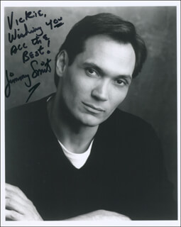 JIMMY SMITS - AUTOGRAPHED INSCRIBED PHOTOGRAPH