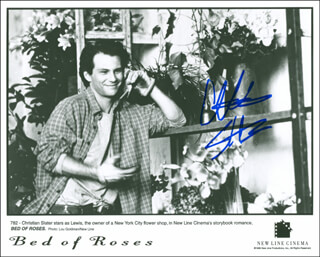 CHRISTIAN SLATER - AUTOGRAPHED SIGNED PHOTOGRAPH