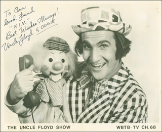 FLOYD UNCLE FLOYD VIVINO - AUTOGRAPHED INSCRIBED PHOTOGRAPH