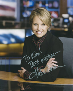 KATIE COURIC - AUTOGRAPHED INSCRIBED PHOTOGRAPH