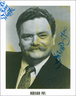 BERNARD FOX - INSCRIBED PRINTED PHOTOGRAPH SIGNED IN INK