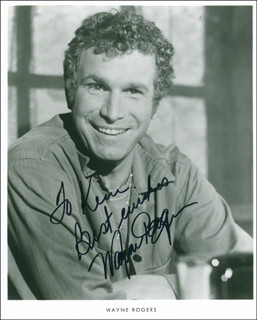WAYNE ROGERS - INSCRIBED PRINTED PHOTOGRAPH SIGNED IN INK