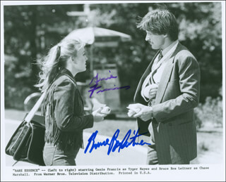 BARE ESSENCE MOVIE CAST - AUTOGRAPHED SIGNED PHOTOGRAPH CO-SIGNED BY: BRUCE BOXLEITNER, GENIE FRANCIS
