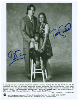 THE BAREFOOT EXECUTIVE MOVIE CAST - AUTOGRAPHED SIGNED PHOTOGRAPH CO-SIGNED BY: TERRI IVENS, JASON LONDON