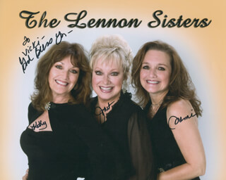THE LENNON SISTERS - AUTOGRAPHED INSCRIBED PHOTOGRAPH CO-SIGNED BY: THE LENNON SISTERS (KATHY LENNON), THE LENNON SISTERS (JANET LENNON), THE LENNON SISTERS (DIANNE LENNON)