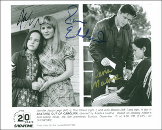 BASTARD OUT OF CAROLINA MOVIE CAST - AUTOGRAPHED SIGNED PHOTOGRAPH CO-SIGNED BY: JENNIFER JASON LEIGH, RON (RONALD JASON) ELDARD, JENA MALONE