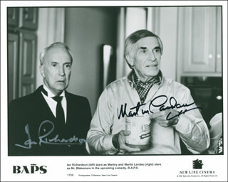 BAPS MOVIE CAST - AUTOGRAPHED SIGNED PHOTOGRAPH CO-SIGNED BY: MARTIN LANDAU, IAN RICHARDSON