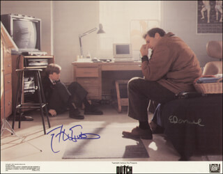 DUTCH MOVIE CAST - PRINTED PHOTOGRAPH SIGNED IN INK CO-SIGNED BY: ED O'NEILL, ETHAN EMBRY