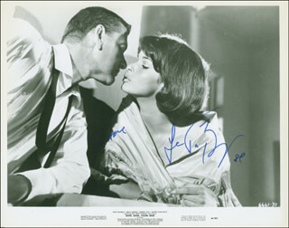 Autographs: BANG, BANG, YOU'RE DEAD MOVIE CAST - PRINTED PHOTOGRAPH SIGNED IN INK CO-SIGNED BY: SENTA BERGER, TONY RANDALL