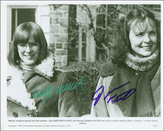 INTERIORS MOVIE CAST - PRINTED PHOTOGRAPH SIGNED IN INK CO-SIGNED BY: MARY BETH HURT, DIANE KEATON