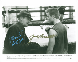 GLADIATOR (1992) MOVIE CAST - PRINTED PHOTOGRAPH SIGNED IN INK CO-SIGNED BY: ROBERT LOGGIA, JAMES MARSHALL