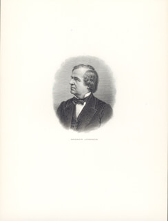PRESIDENT ANDREW JOHNSON - ENGRAVING UNSIGNED