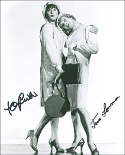 SOME LIKE IT HOT MOVIE CAST - AUTOGRAPHED SIGNED PHOTOGRAPH CO-SIGNED BY: JACK LEMMON, TONY CURTIS