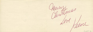 KEENE CURTIS - CHRISTMAS / HOLIDAY CARD SIGNED