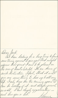 KEENE CURTIS - AUTOGRAPH LETTER SIGNED