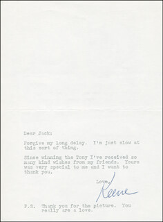 KEENE CURTIS - TYPED LETTER SIGNED